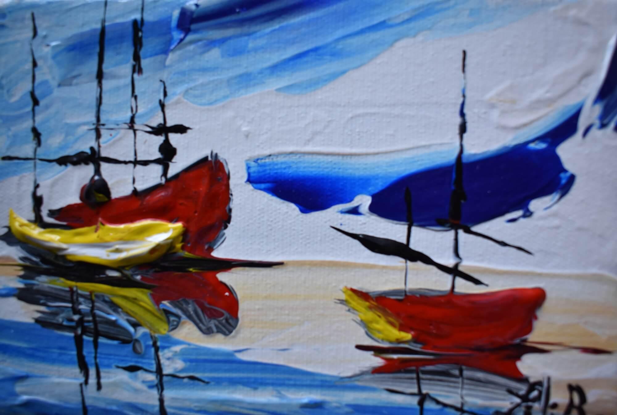 bateaux abstrait
