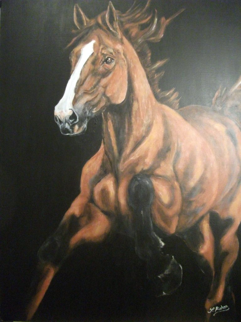 cheval en mouvement