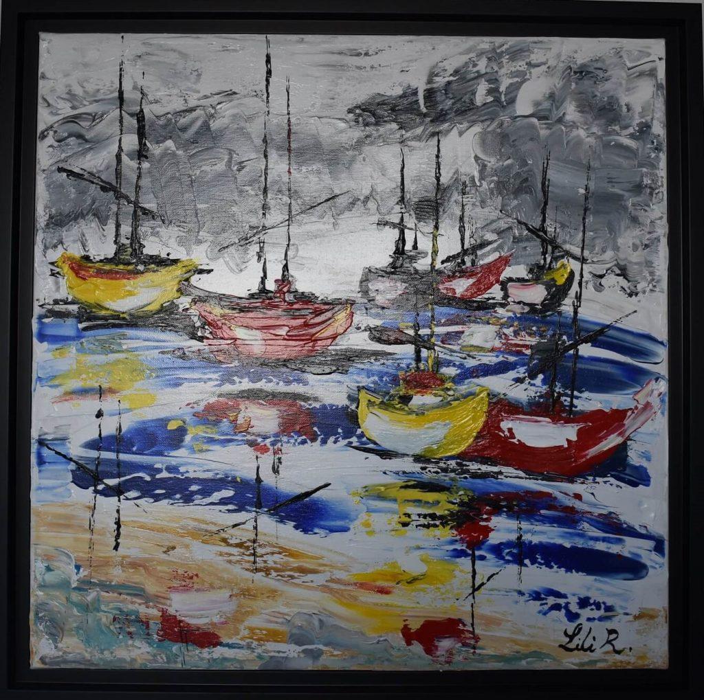 tableau-abstrait- bateaux-severine-richer