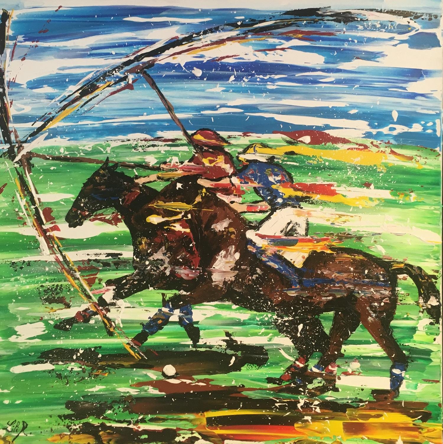 tableau acrylique couteaux polo severine richer peintre normand