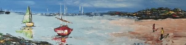 tableau-sortie-port-de-dives-sur-mer-severine-richer-peintre-normand
